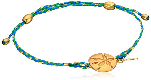 (Alex and Ani Sand Dollar Expandable Teal 14k Bracelet)