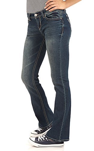 WallFlower Juniors Basic Legendary Bootcut Jeans in Katy Size:5
