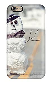 New YYOwmci289KOlQY Snowman On The Road Skin Case Cover Shatterproof Case For Iphone 6