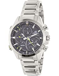 Casio Mens Edifice Quartz Stainless Steel Casual Watch, Color:Silver-Toned (Model: EQB-500D-1ACF)