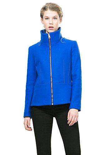 Desigual Damen Caban Mantel blau blau