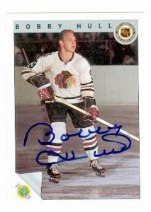 - Bobby Hull autographed Hockey Card (Chicago Blackhawks) 1992 Ultimate #57 - Autographed Hockey Cards