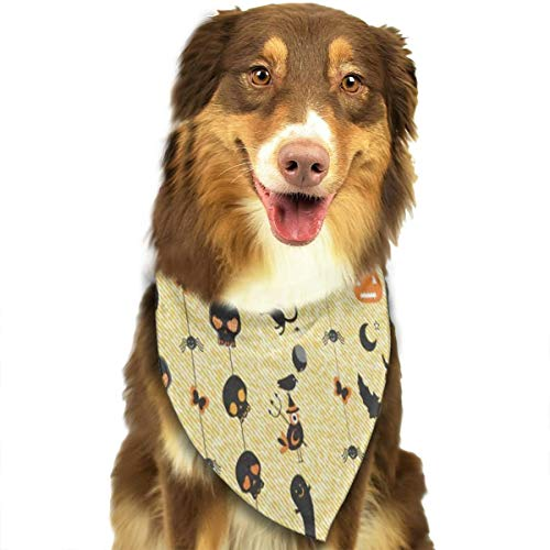 (HJudge Dog Bandana Halloween Theme Dog Scarf Inspiring Puppy)