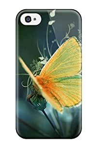 Iphone 4/4s Cover Case - Eco-friendly Packaging(nice Yellow Butterfly )
