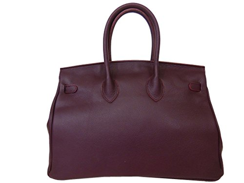 Bordeaux MAIN À EN SAC CUIR qA60vB6w