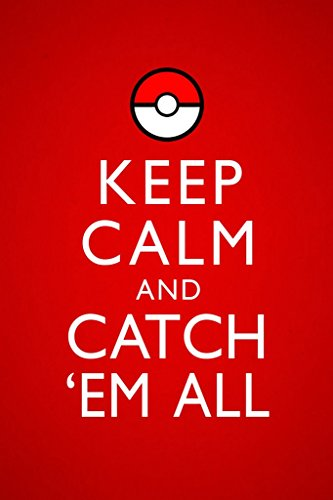 Keep Calm and Catch Em All Video Game Gaming Poster 12x18 inch