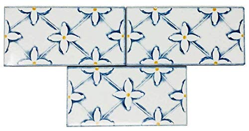 Vogue White Flower Pattern Porcelain Wall Tile, Kitchen Backsplash, Subway Bathroom Decor Tile Made in Italy (3 Pcs/Carton))