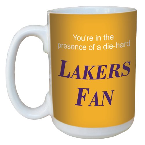 Tree-Free Greetings lm44152 Lakers Basketball Fan Ceramic Mug with Full-Sized Handle, 15-Ounce