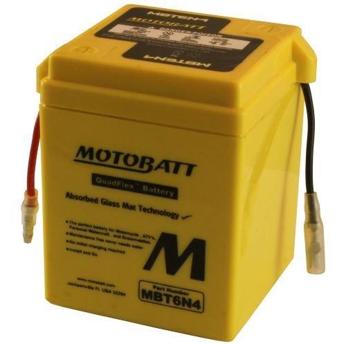 (Motobatt MBT6N4 6V 4Ah Motorcycle Battery Replaces 6N4-2A)