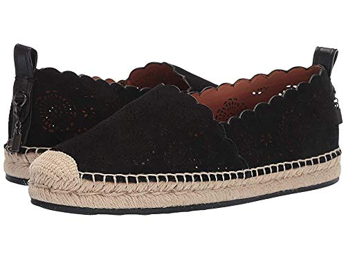 Coach Women's Astor Espadrille with Cut Out Tea Rose Black 9 B US