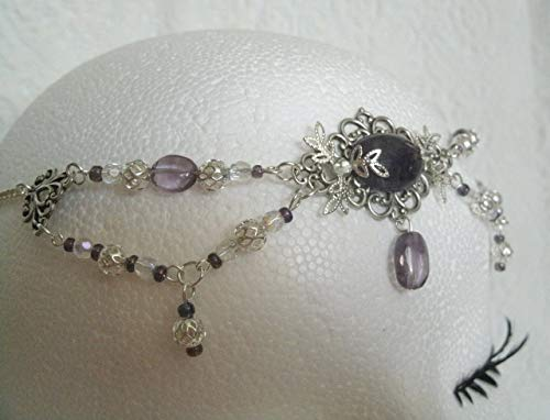 Amethyst Circlet handmade jewelry wiccan pagan wicca witch goddess headpiece renaissance medieval by Sheekydoodle