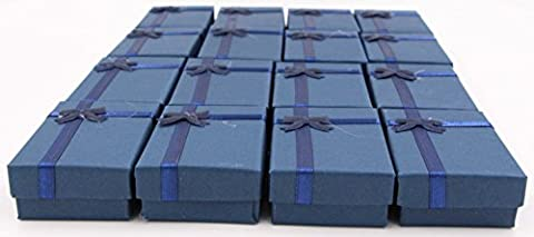 LeBeila 16pcs Paper Jewelry Gifts Boxes For Jewelry Display-Rings, Small Watches, Necklaces, Earrings, Bracelet Gift Packaging Box (Deep - Satin Covered Card Box