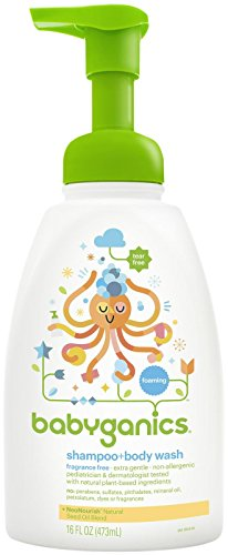 Babyganics Shampoo + Body Wash - Fragrance Free - 16 oz
