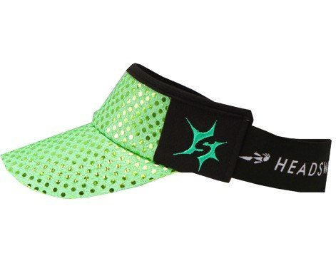 Lime Green Sparkle Running Headsweats Visor