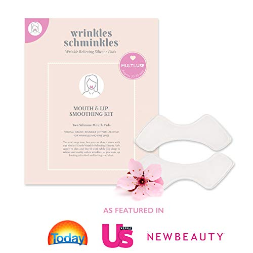 WRINKLES SCHMINKLES - Mouth Smoothing Kit with Silicone Wrinkle Pads - Made in USA - Premium Anti Wrinkle Patches for Lip Wrinkles - Correct Laugh Lines from Aging & Sun Damage - Instant Face Lift