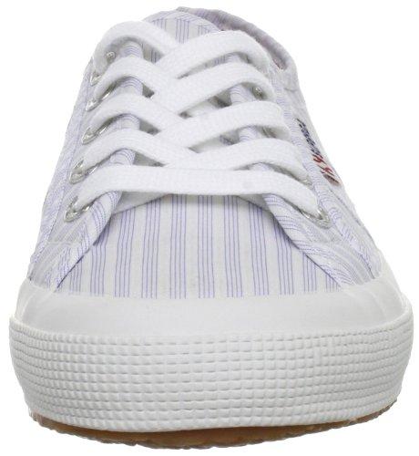 Superga Bianco per Adulti strisce Bianco blu Classiche cotu 2750 Sneakers rqE6gnrW