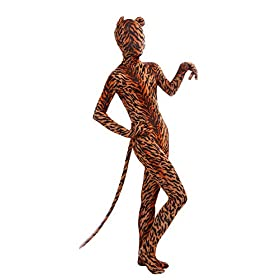 Sheface Kids Tiger Print Zentai Bodysuit With Ears And Tail Kids Small P11