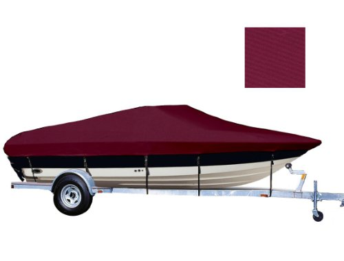 6.25oz SEMI-CUSTOM BOAT COVER AQUAPRO INFLATABLES MONACO 341 O/B 2005-2005 - Monaco Cranberry