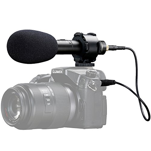 X/Y Stereo Condenser Video Microphone, BOYA BY-PVM50 On-Camera Stereo Video Microphone Including Windscreens & Case Compatible with Canon Nikon DSLR Camera Sony Panasonic Camcorders