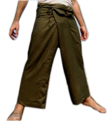 Original Thai Fisherman Pants Trouser YOGA Massage Rayon Cotton Long Warp