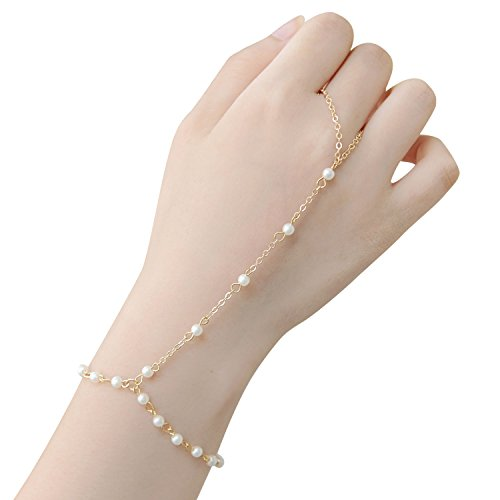 Price comparison product image TS Tassel Crystal Bracelet Slave Finger Ring Hand Harness 4 Pieces/Set (chain)