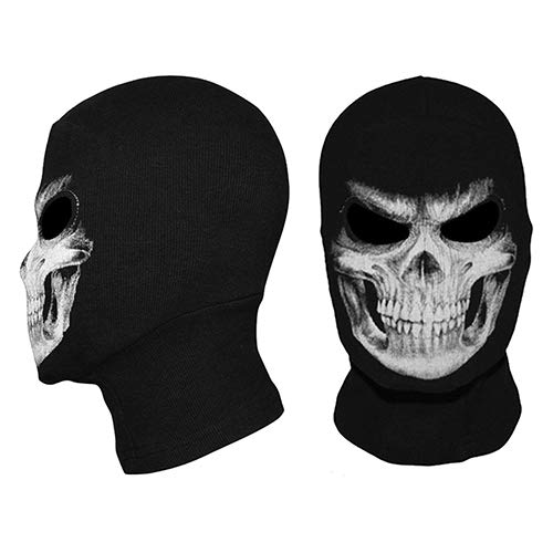 Pcongreat Portable The Grim Reaper Skull Ghost Cosplay Costume Halloween Hats Ski Full Face Mask -