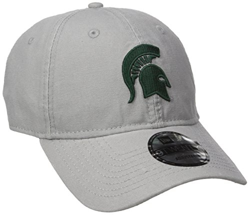 New Era NCAA Michigan State Spartans Adult Core Classic Secondary 9TWENTY Adjustable Cap, One Size, Gray