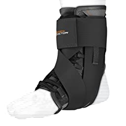 Shock Doctor Ultra Wrap Lace Ankle Support (Black, Medium, 8.5–9)