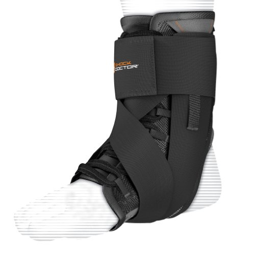 Shock Doctor Ultra Wrap Lace Ankle Support (Black, Small, 8-8.5)
