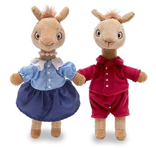 Cuddle Barn Llama Llama Red Pajama and Mama Llama Set of 2 Talking Plush Miniature Toy Squeezers, 6