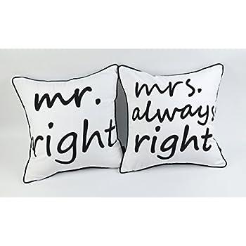 Amazon Com Linkwell 2pcs Mr Always Right Mrs Always