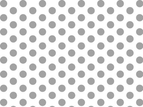 Silver and White Polka Dots Tissue Paper 20 Inch X 30 Inch - 48 XL Sheets