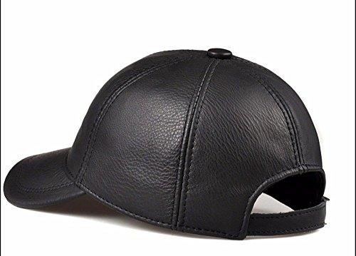 Libre la Invierno los de Mediana Moda Sombrero GAOQIANGFENG de al béisbol de Edad de Casquillo Cuero e Hombres Gorra otoño Aire de IqwU8x