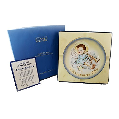 (Schmid Christmas 1989 Collector Plate Angelic Musician Inspired by Berta Hummel #177-158)