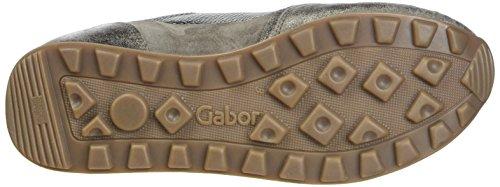 Gabor Comfort Basic, Scarpe Stringate Derby Donna Grigio (Argento/Fango K.)