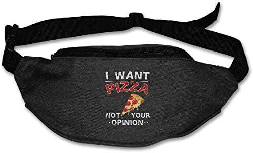 私はピザではなくあなたの意見ユニセックスアウトドアファニーパックバッグベルトバッグスポーツウエストパックが欲しい