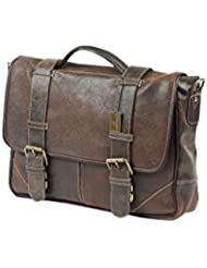 Claire Chase Larado Messenger, Distressed Brown, One Size