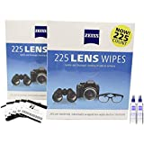 Zeiss Pre Moistened Lens Cleaning Wipes Bundle with 460 Zeiss Lens Wipes 5 Innovative Homeware Microfiber Cleaning Cloths and 2 Spray Bottles of Zeiss Cleaning Solution