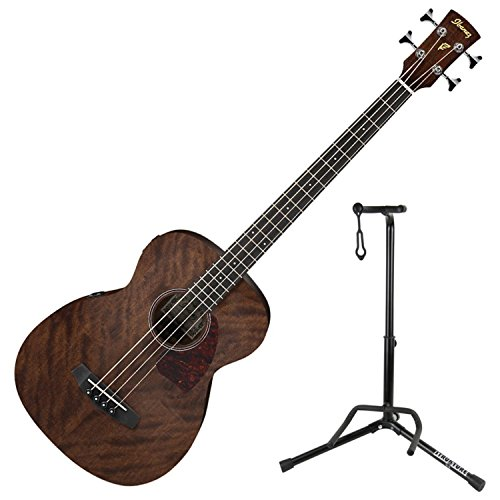 Ibanez PCBE12MH Acoustic Bass (Open Pore Natural) with Stand (Ibanez Stand)