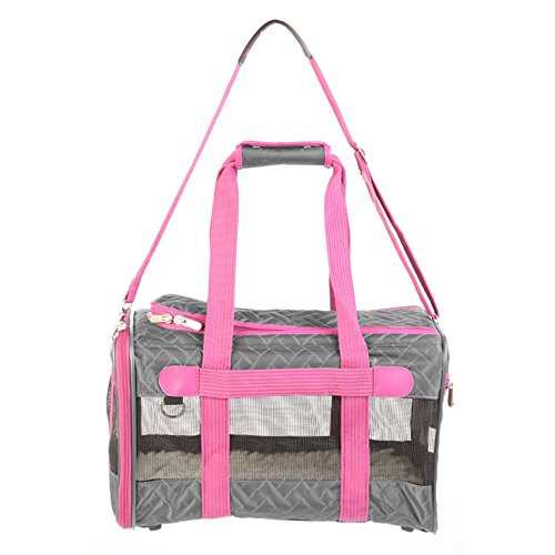 - Sherpa Original Deluxe Pet Carrier in Gray & Pink, Medium, Gray/Pink
