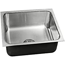SINGLE BOWL - INTEGRA DRAIN W/O GB OUTLET - UNDERMOUNT - 18 GAUGE STAINLESS STEEL -ÿSTANDARD DEPTHÿ- LESS FAUCET LEDGE - USN-13518-A