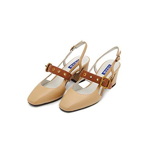De Shoeshaoge Mode Vrouwen Schoenen Sleuven Armaturen, Dik Met Hoge Hakken Sandalen Vrouwelijke Eu39