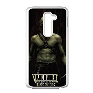 Protective TPU cover case Vampire The Masquerade Bloodlines LG G2 Cell Phone Case White