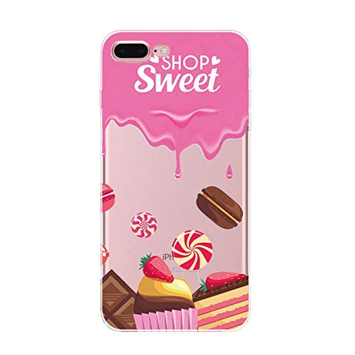 - Phone Case for iPhone 8 5 5S Se 6 6S Plus 7 Plus Protective Shell Candy Doughnut Ice Cream Drawing Transparent Mobile Back Cover,4,for iPhone 5 5S