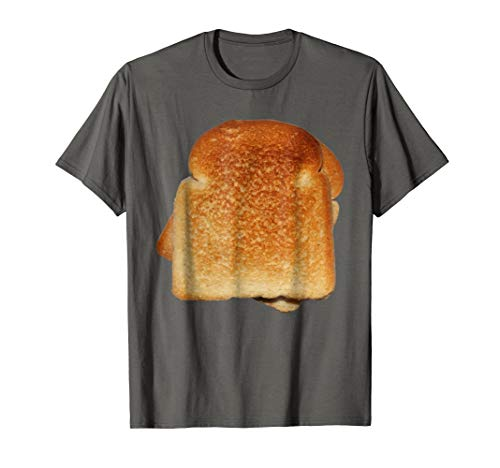 Mens Bread Toast T-Shirt Halloween Costume Matching Gift Tee XL Asphalt -