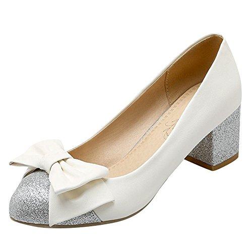 85cd6aa0e9dba YE Damen Chunky Heels Pumps Rockabilly Geschlossene High Heels ...