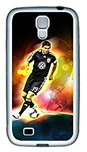 S4 Case, Galaxy S4 Case, Custom Design Samsung Galaxy S4 Soft Rubber TPU White Protective Case Shock-Absorption Bumper Case for New Galaxy S4 - Dc United