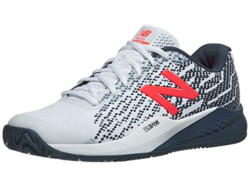 New Balance Men's 996v3 Hard Court Tennis Shoe, White/Navy, 9.5 D US