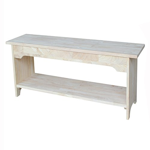 Unfinished Wood Storage Bench - International Concepts BE-36 36-Inch Brookstone Bench, Unfinished