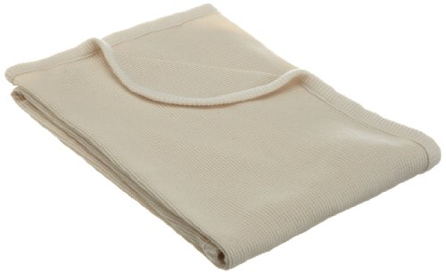 American Baby Company 30 X 40 Thermal/Waffle Swaddle Blanket Made with Organic Cotton, Natural Color, Soft Breathable, for Boys and Girls Cotton Thermal Receiving Blanket